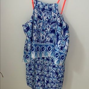🐳 BLUE LILLY PULITZER ROMPER🐳